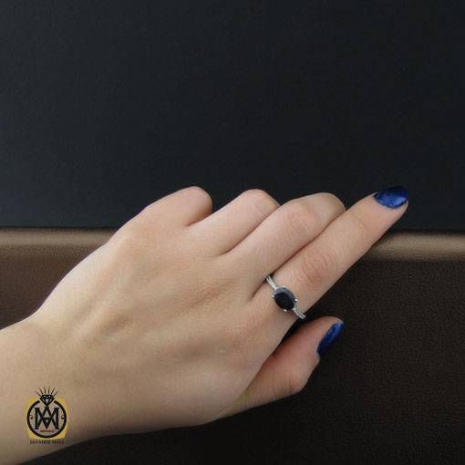انگشتر یاقوت کبود زنانه