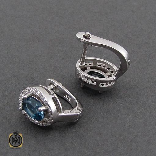 گوشواره نقره جواهرمال