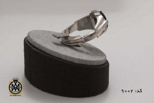 انگشتر یاقوت کبود مردانه هنر دست استاد شرفیان - کد 8002 - 4 scaled 510x341