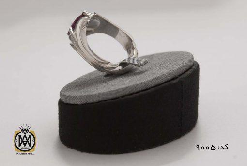 انگشتر یاقوت سرخ خوش رنگ مردانه هنر دست استاد شرفیان - کد 8005 - 5 1 510x342