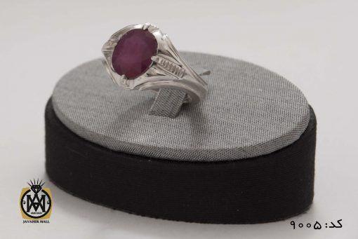انگشتر یاقوت سرخ خوش رنگ مردانه هنر دست استاد شرفیان - کد 8005 - 7 1 510x341