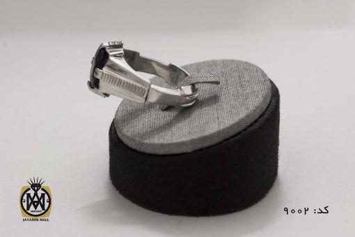 انگشتر یاقوت کبود مردانه هنر دست استاد شرفیان - کد 8002 - 7 510x341