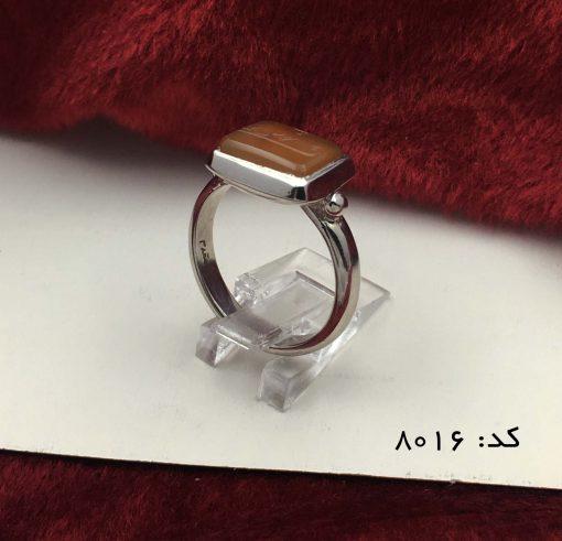 انگشتر عقیق یمن با حکاکی شرف الشمس هنر دست استاد ضابطی مردانه – کد ۸۰۱۶