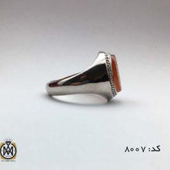 انگشتر عقیق یمن با حکاکی یا شمس الشموس هنر دست استاد حیدر مردانه - کد 8007