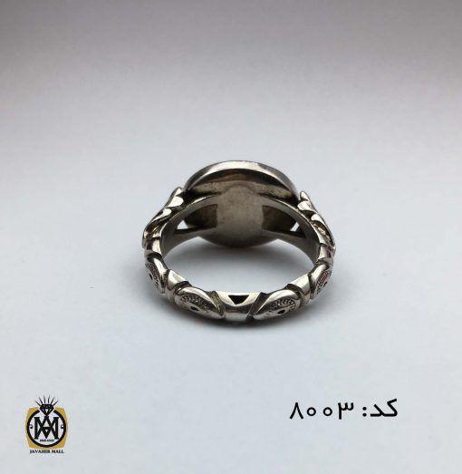 انگشتر عقیق یمن سفید با حکاکی هو الحی القیوم هنر استاد حیدر مردانه - کد 8003 - IMG 7055 510x523