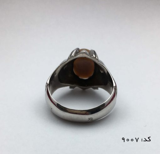 انگشتر اپال خوش رنگ مردانه دست ساز - کد 8007 - IMG 7066 510x493