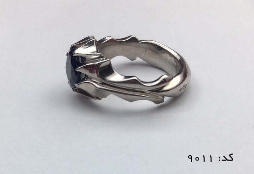 انگشتر یاقوت کبود آفریقایی مردانه دست ساز - کد 8011 - IMG E6926 510x350