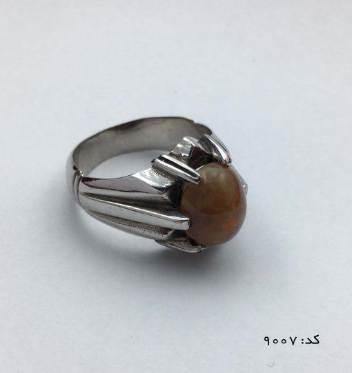 انگشتر اپال خوش رنگ مردانه دست ساز - کد 8007 - IMG E7061 510x541