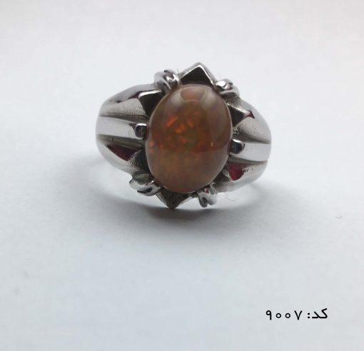 انگشتر اپال خوش رنگ مردانه دست ساز - کد 8007 - IMG E7062 510x492