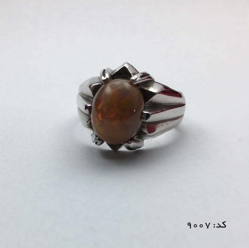 انگشتر اپال خوش رنگ مردانه دست ساز - کد 8007 - IMG E7064 510x508