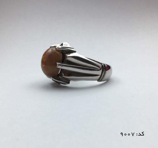 انگشتر اپال خوش رنگ مردانه دست ساز - کد 8007 - IMG E7065 510x478