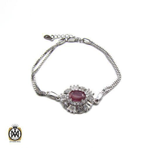 دستبند یاقوت سرخ زنانه – کد 1009