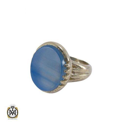 انگشتر عقیق آبی مردانه – کد ۸۱۳۳