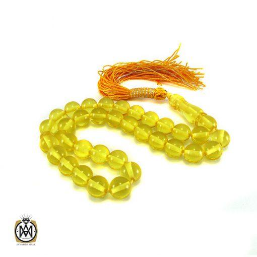 تسبیح کهربای پودری ۳۳ دانه شفاف- کد ۴۰۷۹