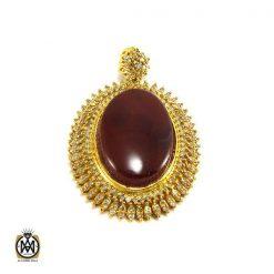 مدال عقیق یمن و الماس اصل زنانه طرح جانان - کد 3004 - 1 368 247x247