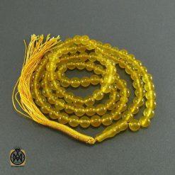 تسبیح جید زرد شرف الشمس ۱۰۱ دانه – کد ۴۰۵۹