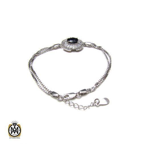 دستبند یاقوت کبود زنانه طرح درسا – کد ۱۰۲۴