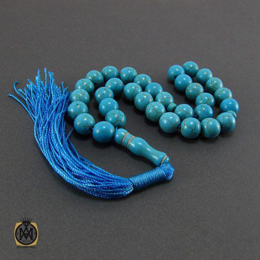 تسبیح فیروزه تبتی ۳۳ دانه گرد – کد ۴۰۳۲