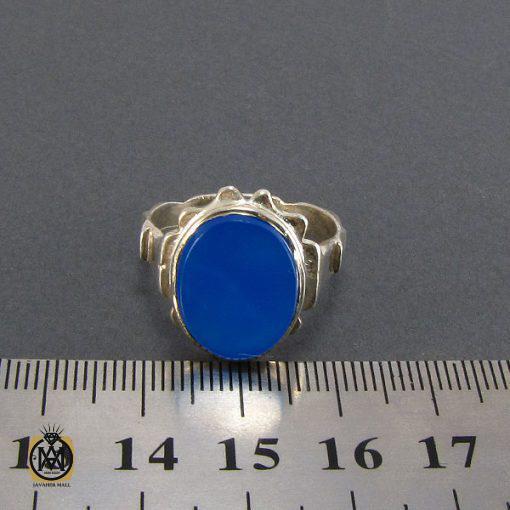 انگشتر عقیق آبی مردانه – کد ۸۱۳۵