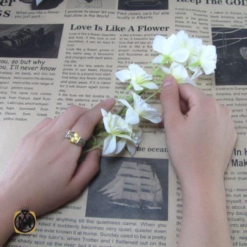 انگشتر سیترین زنانه طرح درسا- کد ۲۰۵۶
