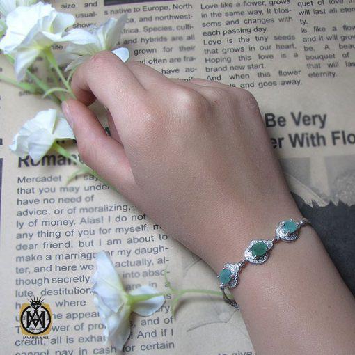 دستبند زمرد زنانه – کد ۱۰۰۴