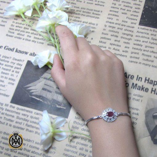 دستبند یاقوت سرخ زنانه – کد 1009 - 5 157 510x510