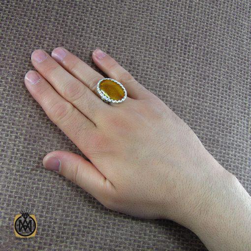 انگشتر کهربا مردانه - کد 8044 - 5 172 510x510