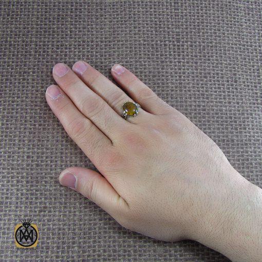انگشتر کهربا مردانه – کد ۸۰۴۹