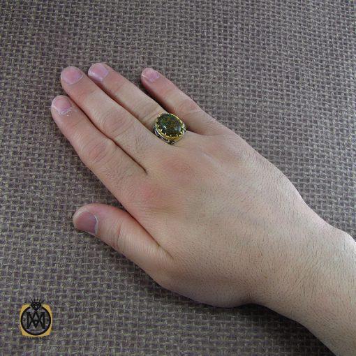انگشتر کهربا مردانه – کد ۸۰۵۳