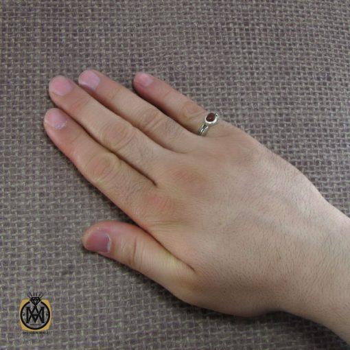 انگشتر عقیق یمن مردانه با حکاکی و من یتق الله مردانه - کد 8123 - 5 250 510x510