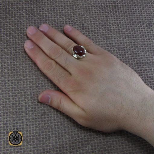 انگشتر عقیق قرمز مردانه – کد ۸۱۳۷