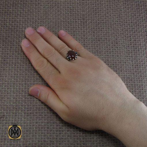 انگشتر عقیق قرمز مردانه – کد ۸۱۳۸