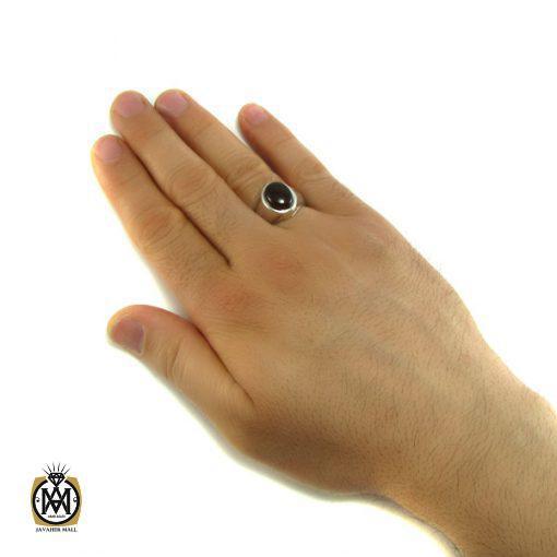 انگشتر عقیق یمن مردانه - کد 8146