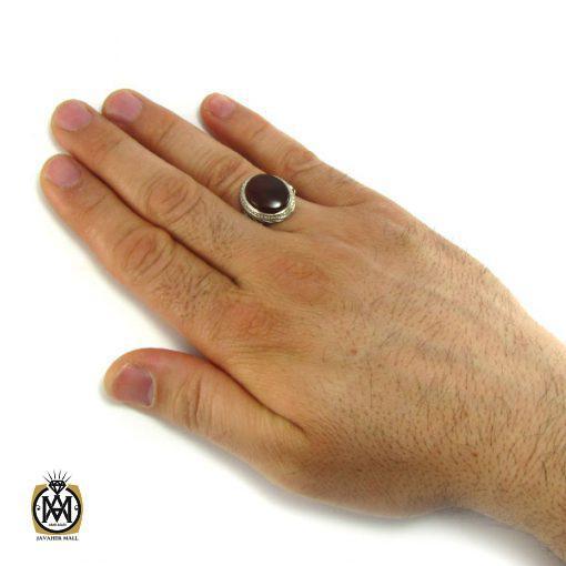 انگشتر عقیق یمن مردانه – کد ۸۱۶۷
