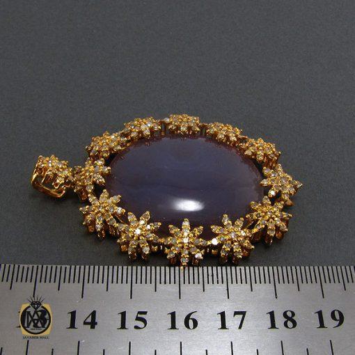 مدال عقیق یمن کبود و الماس اصل زنانه طرح رکسانا – کد ۳۰۰۱