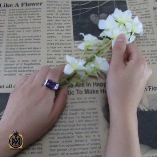 انگشتر آمتیست زنانه طرح مهگل - کد 2050 - 6 102 510x510