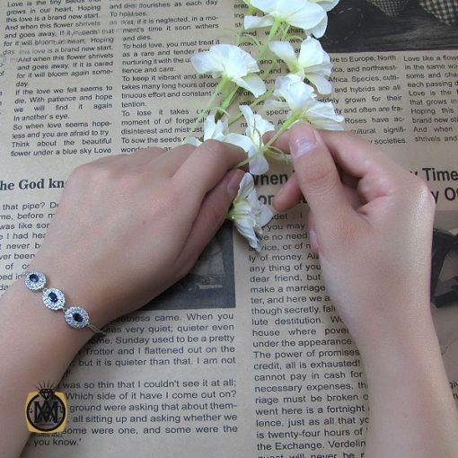 دستبند یاقوت کبود زنانه طرح فروزان – کد 1019 - 6 123 510x510