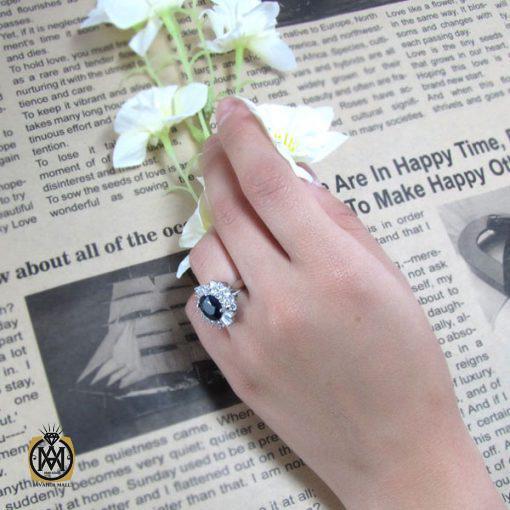 انگشتر یاقوت کبود طرح بهار زنانه -کد 2013 - 6 66 510x510