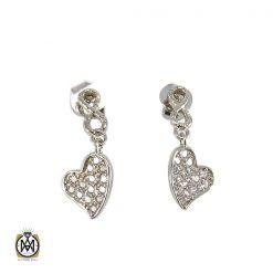 گوشواره نقره زنانه طرح قلب - کد 5026 - 1 12 247x247
