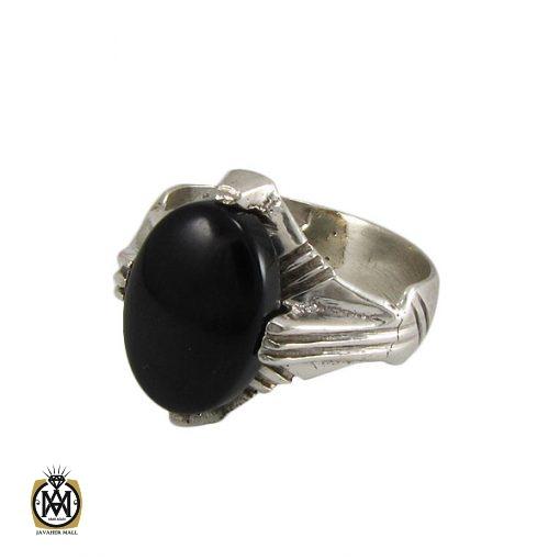 انگشتر عقیق سیاه مردانه – کد ۸۳۱۲