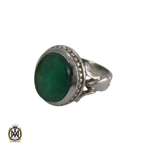 انگشتر عقیق سبز مردانه اصل و خوش رنگ - کد 8313 - 1 229 510x510