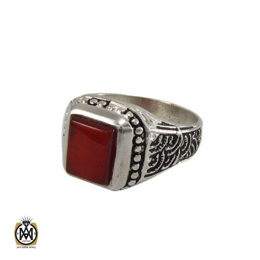 انگشتر عقیق قرمز مردانه - کد 8319 - 1 235 510x510