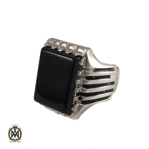 انگشتر عقیق سیاه مردانه اصل و معدنی - کد 8324 - 1 240 510x510