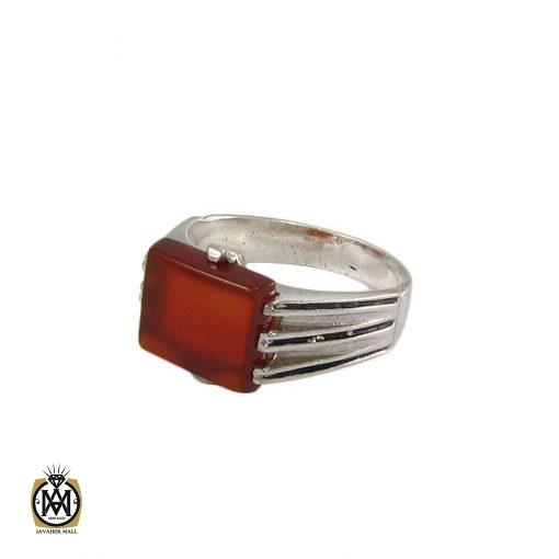 انگشتر عقیق قرمز مردانه - کد 8329 - 1 244 510x510
