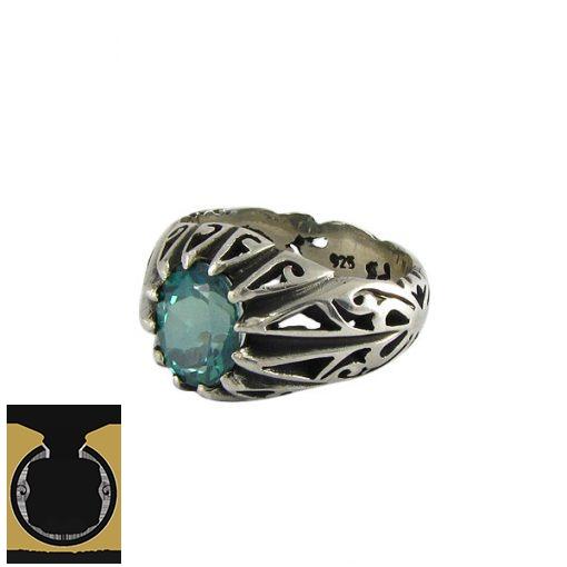 انگشتر نقره مردانه با نگین توپاز - کد 8175 - 1 25 510x510