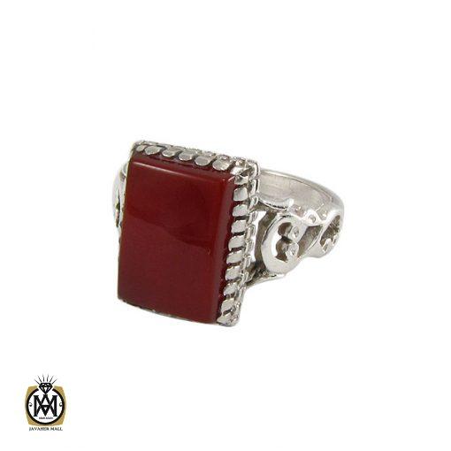 انگشتر عقیق قرمز مردانه – کد ۸۳۴۴