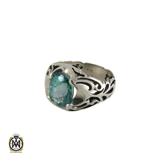انگشتر توپاز سبز مردانه خوش رنگ و معدنی - کد 8177 - 1 27 510x510