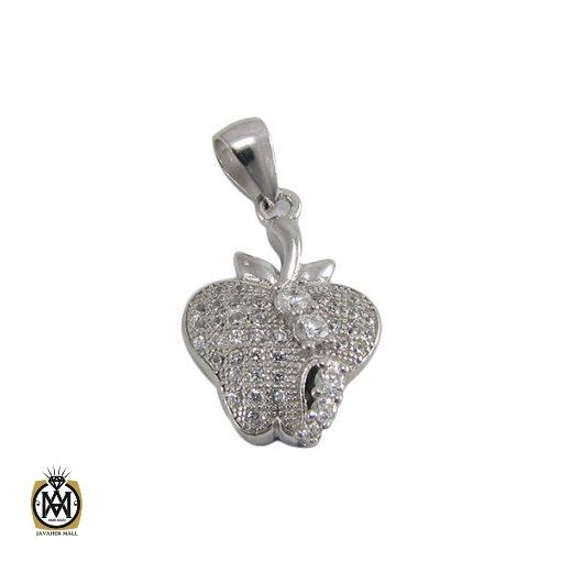 مدال نقره زنانه طرح سیب – کد ۳۰۲۲