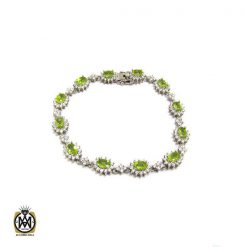 دستبند زبرجد زنانه طرح فلورا - کد 1175 - 1 49 247x247