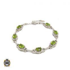 دستبند زبرجد زنانه طرح فلورا - کد 1175 - 1 56 247x247